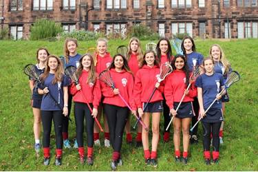 The girls selected for the U18 Lancashire Lacrosse team (please see below for details)