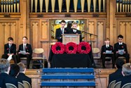Boys delivered moving tributes to those that made the ultimate sacrifice