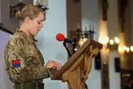 Old Girl Lieutenant Nikki Reid read a poem during the service