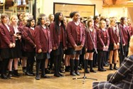 The Year 7 girls performed for the Old Girls