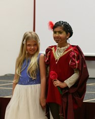 A couple of girls from Year 5 had come to school dressed as Romeo and Juliet as part of the World Book Day celebrations!