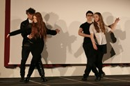 Pupils show off their dance skills during the ball scene