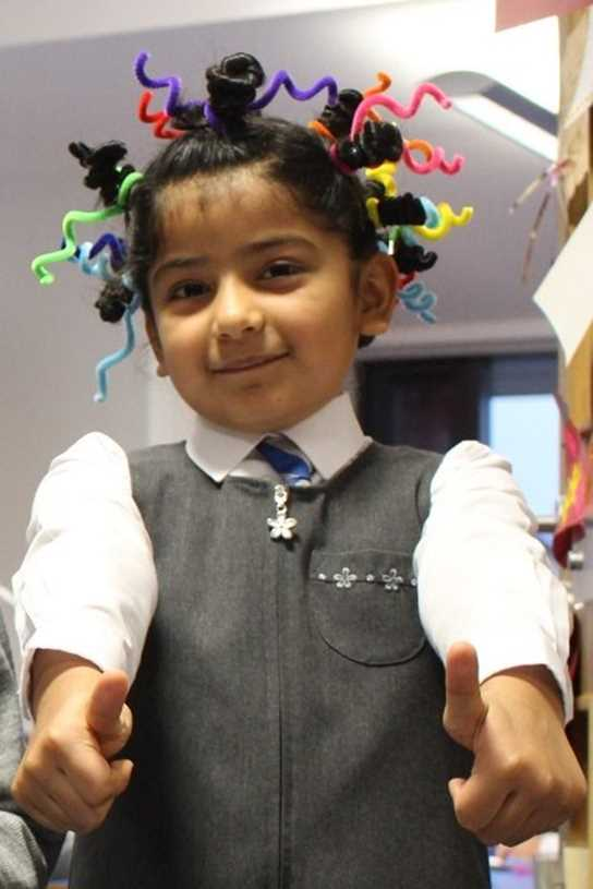 There were some very intricate 'mad' hair styles on display!