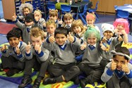 Reception Class with Mad Hair