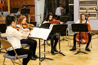 The Senior String Quartet played Brandenburg Concerto No.3