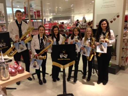 John Lewis staff kindly gave each performer a small gift to take home