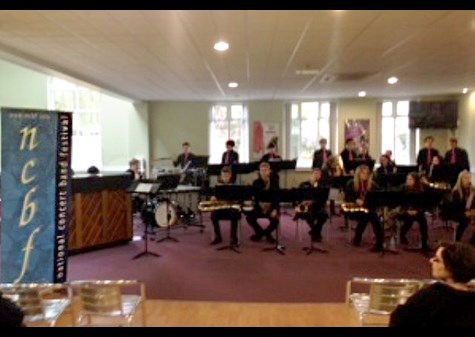 The Jazz Band performed at the NCBF North Regional Festival