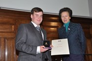 Peter received his Youth Award from Princess Anne