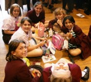Pupils enjoyed picnics in the Arts Centre