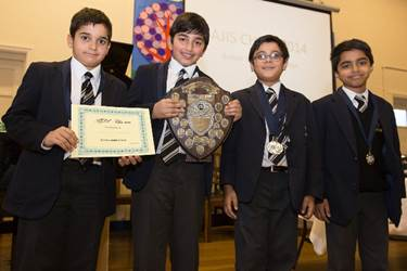 The winning team: Aran, Hashir, Shivraj and Nihal