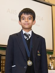 Year 4 pupil Vibhav came joint first in the U9 competition