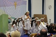 The angels brought a message about the birth of Jesus