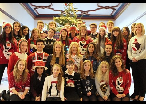 A group of girls, Sixth Form boys and staff who took part in the day