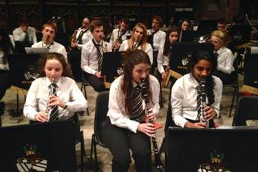 The Senior Concert Band during their performance