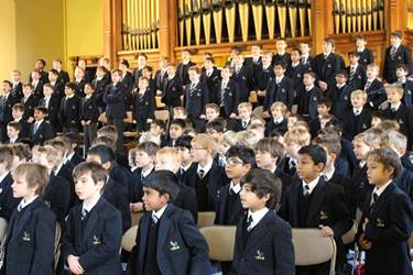 The Junior Boys' voices filled the Boys' Division Great Hall