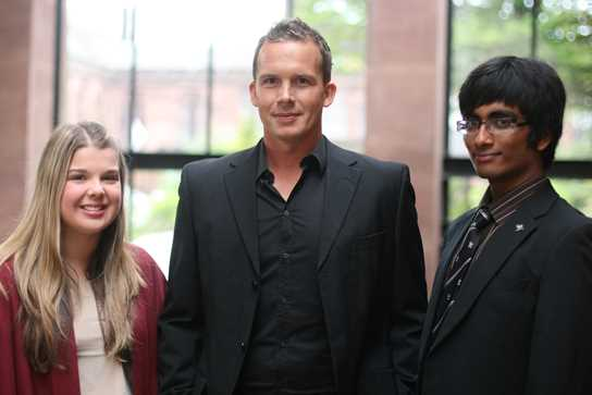 Kevin Davies and Sixth Form students