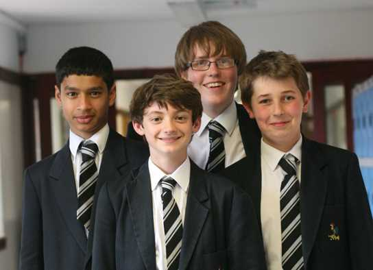 Haseeb Wazir, Matthew Whitfield, Peter Roberts and Daniel Wilde