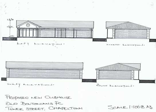 Old Boltonions Clubhouse plans