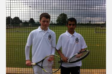U12 pairing of Mohammed Kahn and Daniel Southworth