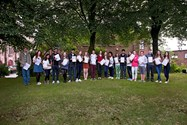 GCSE A* and A boys and girls celebrate