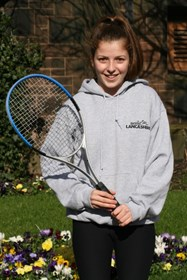 Amy Hadjinicolaou represented Lancashire in her matches