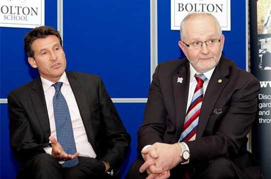 Old Boy Sir Philip Craven, along with Lord Sebastian Coe