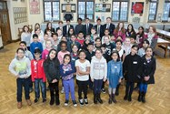 Year 5 children get ready for SHINE: Serious Fun on Saturdays. They will be helped by Bolton School pupils