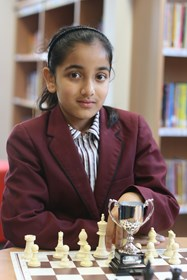 Mahima is the best chess player in the U9 girls