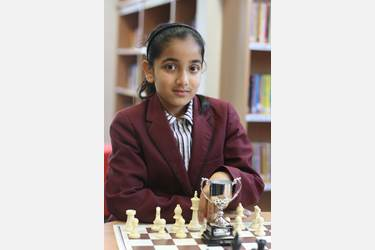 Mahima is the best chess player in the U9 girls' category in the country