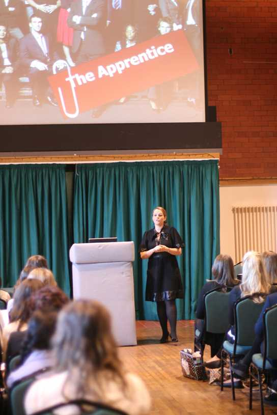 The Apprentice finalist Claire Young at Bolton School