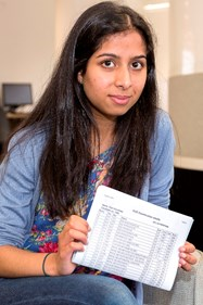Tejal on exam results day