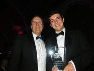 James Roberts picked up the award on behalf of Sir Philip