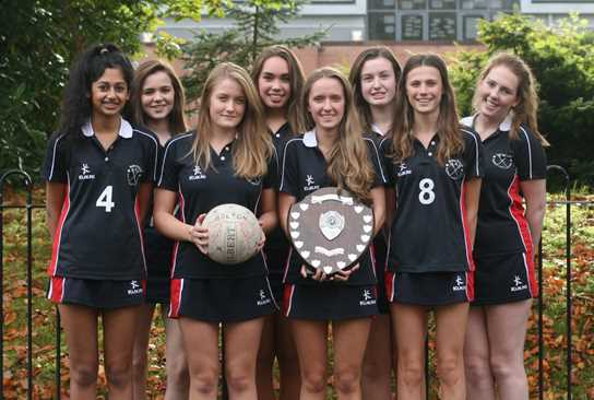 The Bolton School U16 netball team are Bolton Champions