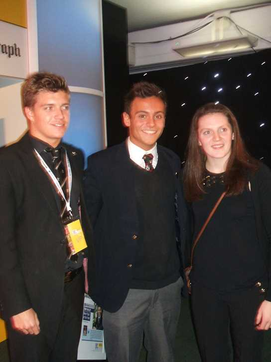 Oliver and Emma with Tom Daly