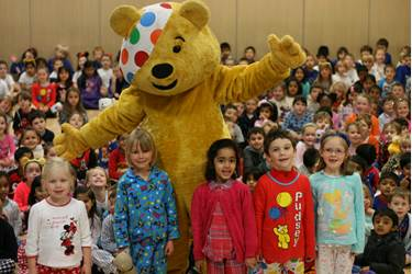 Pudsey thrilled Beech House children with a suprise visit