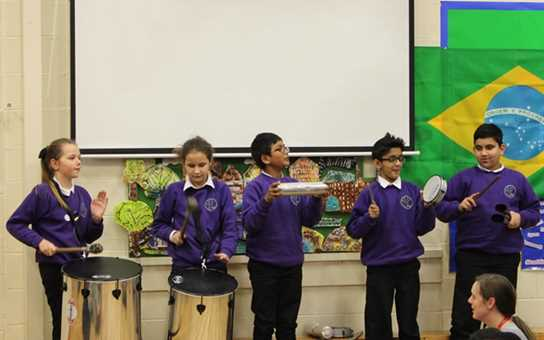The pupils really enjoyed playing the Samba in assembly
