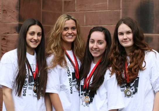 Katie Nightingale, Amy Lilleywhite, Larissa King and Aimee Smith won the John Parry Medley relay