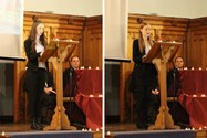 The girls spoke during assembly about their trip to Poland