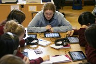 Bolton School Senior Girls studying in ICT classroom