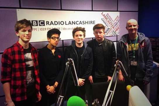 The Parallel Oreos with Sean McGinty at the BBC Radio Lancashire studios