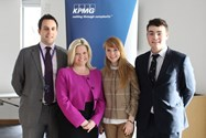 Katie and Graham launched the KPMG Internship Scheme to interested Sixth Form pupils