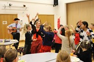 Girls and staff enjoyed an impromptu lunch time flamenco!
