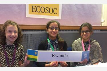 The girls' Mock United Nations team showed themselves as promising debaters