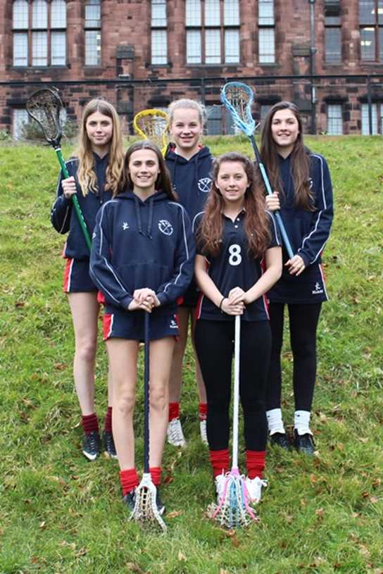 The girls selected for the Squad: Molly Dick, Ellen Dick, Ellie Broome, Georgia White and Georgina Owen