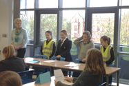 The visiting magistrates helped the girls to follow the court proceedings during the mock trial
