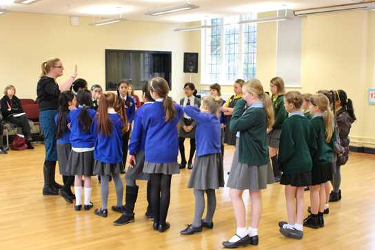 Pupils enjoyed French games and activities in the Girls' Division Dance Studio