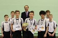 The Vaulting Competition finalists with Mr Britton