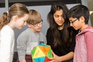 The Sixth Formers led the children in various workshop activities