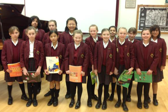 All of the Year 6 pianists who took part in the Music Festival