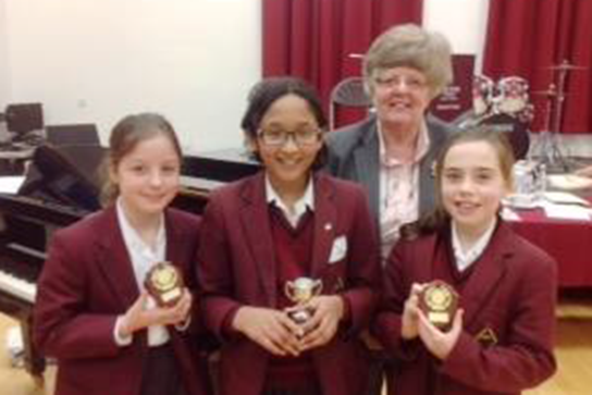 Ms Forrest with the Year 5 Instrumental winners